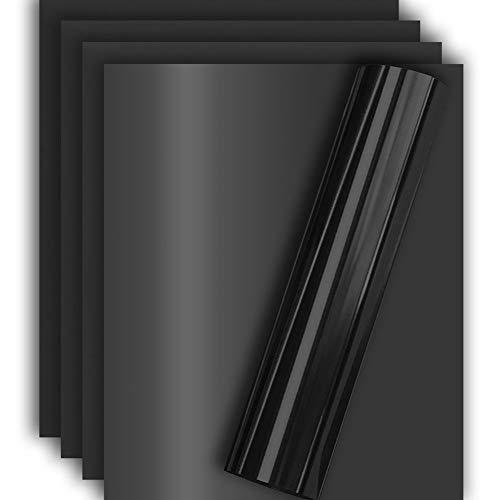 Black Metallic Foil HTV Heat Transfer Vinyl for Tshirt and Apparel 12