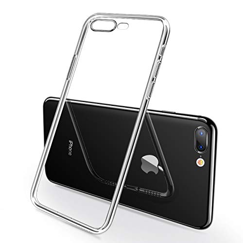 iPhone Case, NganHing Shock-Resistant Case Compatible with iPhone 7 Plus iPhone 8 Plus Scratch-Resistant TPU Gel Bumper Soft Silicone Transparent Clear Back Case
