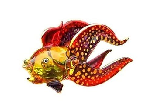 Handmade Goldfish (Lucky Fish) Art Glass Blown Aquatic Animals Figurine