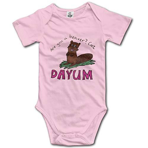 V5DGFJH.B Baby Bodysuit Beaver Time Infant Toddler Climbing Short-Sleeve Onesie Jumpsuit 2T -