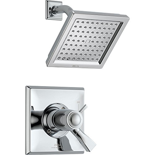 Delta Dryden Dual Control Chrome Modern Thermostatic Shower with Valve D831V