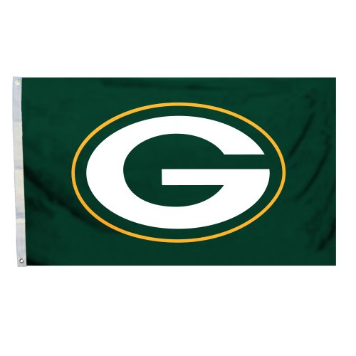NFL Green Bay Packers Logo Only 3-by-5 Feet Flag with Grommetts