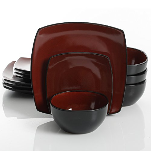 Gibson Elite Soho Lounge 12 Piece Dinnerware Set, (Gibson China Dinnerware)