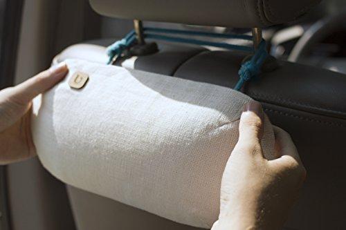 PURGGO Auto Lufterfrischer, Luftentfeuchter - Ohne Duftstoffe - Hält mehr als 365 Tage - Hergestellt mit 100% Bambuskohle - Auto Geruchsneutralisierer, Entferner, Absorbierer - Bester Erfrischer für Erwachsene, Kinder, Hunde [CLASSIC BEIGE]