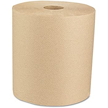 Boardwalk 16GREEN Green Seal Recycled Paper Towel Roll, Hardwound, Universal Roll Towels, Natural, 8