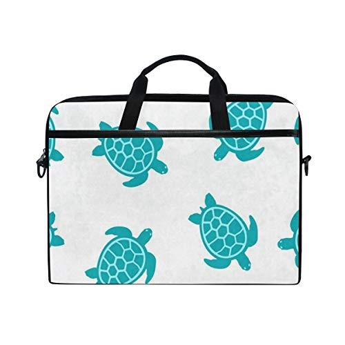 Turtle Turquoise 14 15inch Laptop Case Laptop Shoulder Bag Notebook Sleeve Handbag Computer Tablet Briefcase Carrying Case Cover with Shoulder Strap Handle for Men Women Travel/Business/School