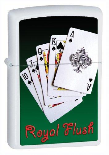 Zippo Flush Royal - Zippo Royal Flush White Matte Lighter