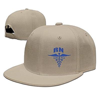 WellShopping R N Nerse Ragister Nerse Solid Flat Bill Hip Hop Snapback Baseball Cap Unisex sunbonnet Hat.