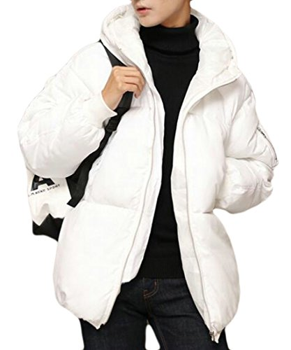 today Jacket Coat Outwear White Winter Jacket Hoodie Men Padded Warm Cotton UK rzXwpr