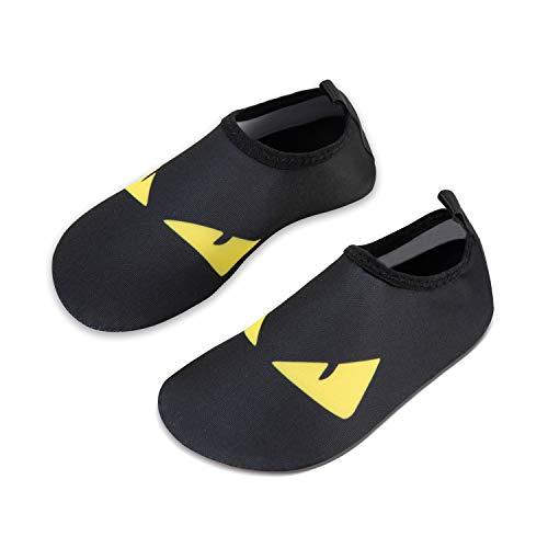 Eye Black Shoe - Mabove Kids Swim Water Shoes Non-Slip Quick Dry Barefoot Aqua Pool Socks Shoes for Boys & Girls Toddler (Eyes/Black, 26/27EU)
