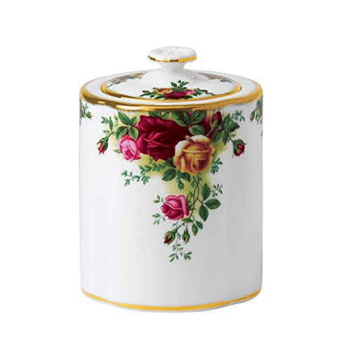 Royal Albert Old Country Roses Tea Party Caddy, (English Country Collection)