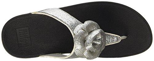 Fitflop Glitterosa - Sandalias Mujer Plata (Silver)