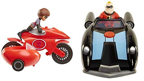 The Incredibles 2 Junior Super Family 8 Pack Toy Play Set Gift Action Figures