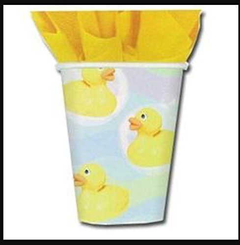 'Rubber Duckie' Baby Shower 9oz Paper Cups (8ct) (Duckie Baby Cup)