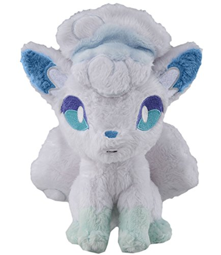 Takaratomy Pokemon Sun & Moon Alolan Vulpix Stuffed Plush, 8