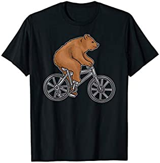 [Featured] Bear On A Bike Funny Fitness  for Biking Bear Lovers in ALL styles | Size S - 5XL