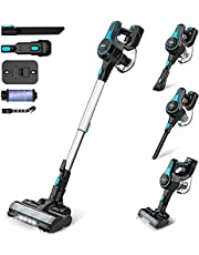 INSE Cordless Vacuum Cleaner, 4 in 1 Handheld Poweful Stick Vac with 1.2 L Large Dust Cup, Multiple Brush for Car Pet Carpet Hard Floor Blue