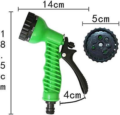 PENVEAT Patrones 7 en 1 Rociadores de Agua para jardín Pistola de Agua Manguera de riego para el hogar Pistola de pulverización para Lavado de Autos Limpieza Césped Riego de jardín, Verde: