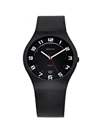 Bering Time 11937-222 Mens All Black Watch