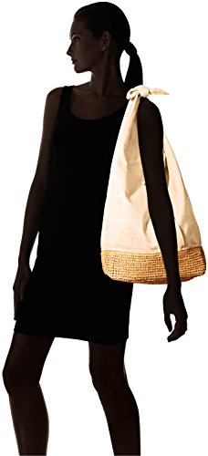 'ale By Alessandra Women's Ipanema Linen And Raffia Tote Flax One Size Ale By Alessandra Womens Accessories