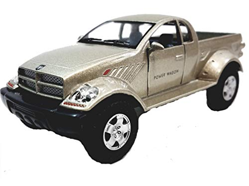 - Kinsmart Tan (Beige) Dodge Power Wagon Pickup Truck 1/42 O Scale Diecast Truck