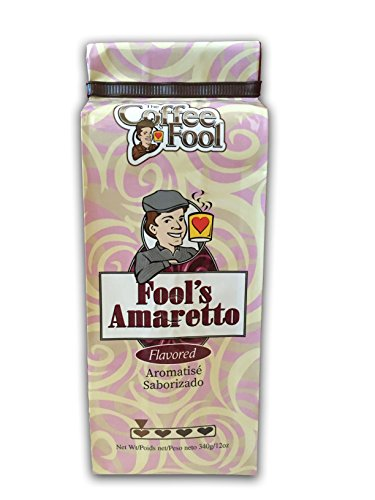 The Coffee Fool Perk Grind, Fool's Decaf Amaretto, 12 Ounce (Regular Coffee Amaretto Flavored)