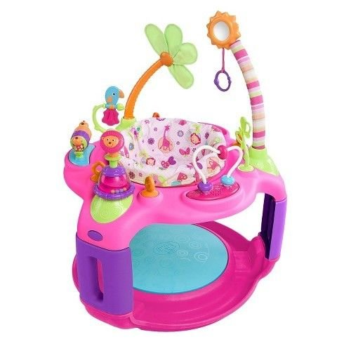 Bright Starts Pretty in Pink Bounce-A-Round Entertainer - Sweet Safari by Unbranded