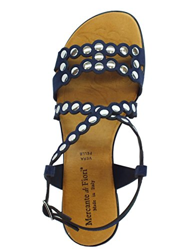 Bleu pour di Sandales Fiori Femme Mercante qw76XFw