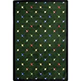 Joy Carpets Games People Play Billiards Gaming Area Rugs, 46-Inch by 64-Inch by 0.36-Inch, Green