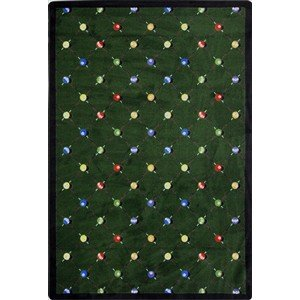 Joy Carpets Games People Play Billiards Gaming Area Rugs, 46-Inch by 64-Inch by 0.36-Inch, Green Joy Carpets Games