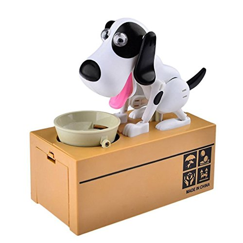 LOBZON Automated Puppy Stealing Coin Bank, Money Box