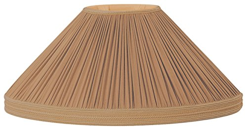 (Royal Designs Brown Pleated Oval with Gallery Designer Lamp Shade, Brown, (4 x 6.5) x (12 x 21.5) x 12.5)