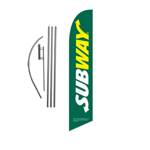 green-subway-15ft-feather-banner-swooper-flag-kit-includes-15ft-pole-kit-w-ground-spikee