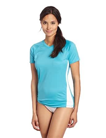 Kanu Surf Women's CB UPF 50+ Swim Tee, Aqua, Small