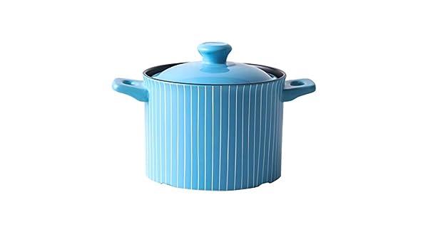 LIYANNG Utensilios De Cocina con Tapa Cacerola De Leche De CeráMica Cacerola Estofado De Cacerola Olla De Sopa Multifuncional 3.5l Sartenes De Leche: Amazon.es: Hogar