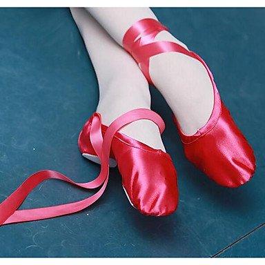 CN30 Ballet EU31 Flats 5 Purple UK0 Nude Silk Ruby Professional Women's 5 US1 Fabric Hq1wZfdOvO