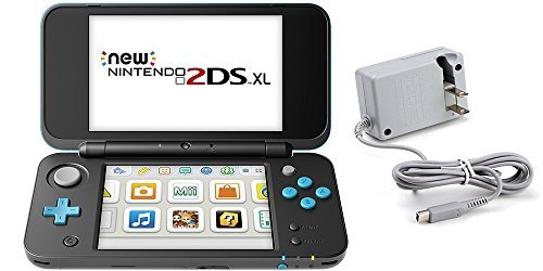 le (2 Items): Nintendo New 2DS XL (Black + Turquoise) and Tomee AC Adapter ()