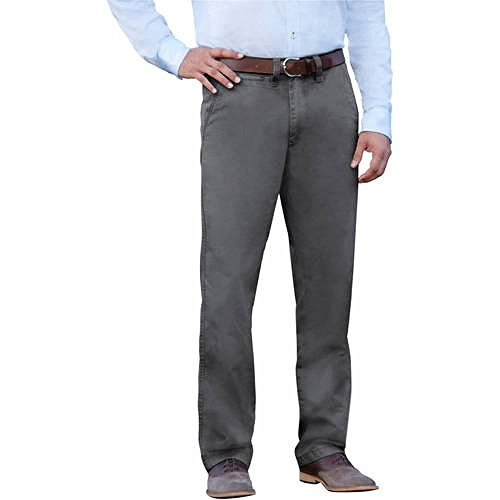 George Men's Everyday Wash Khaki Chinos Dress Pants (32X30, Smoke) - Everyday Chino