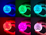 GoBright Light Activated LED Golf Balls - 7 Colors in One