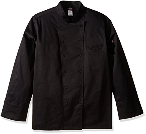 Dickies Chef Women's Plus Size Executive Coat, Black,