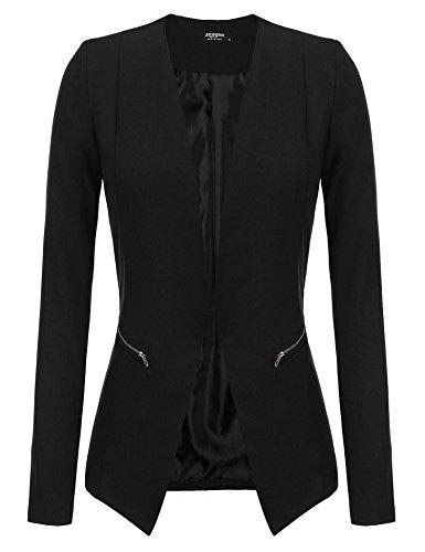 Zeagoo Women's Formal Office Draping Long Sleeve Cardigan Open Front Jacket - Blazer Lined Fully Classic