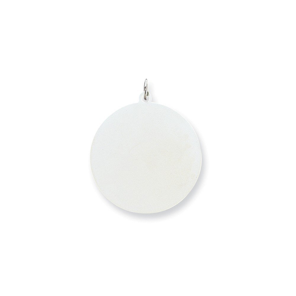 1.38 in x 1.26 in Sterling Silver Engraveable Round Disc Charm Pendant