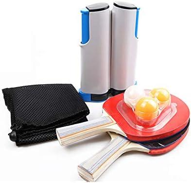 ゲーム卓上テニス、任意のテーブル格納式卓球セット用卓球ネット3卓球ボール2卓球パドルは、家庭用または屋外用に最適