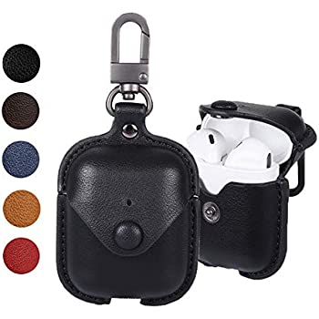 Amazon.com: Leather Case for AirPods with Keychain