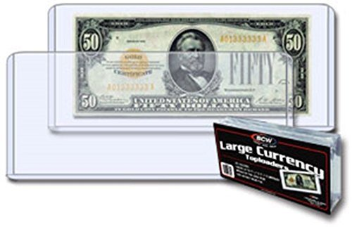 Currency Topload Holder Protector BCW