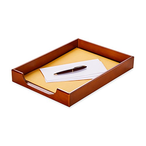 Rolodex Wood Tones Collection Desk Tray, Legal-Size, Mahogany (23360) by Rolodex (Image #1)