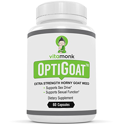 OptiGoat™ - Top Rated Horny Goat Weed Extract by VitaMonk - Standardized for Icariin - Pure Horny Goat Weed Supplement - Natural Healthy Sex Drive & Stamina - For Men and Women - 60 Capsules by VitaMonk