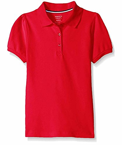 French Toast Girl's Short Sleeve Stretch Pique Uniform Polo 2 Pack (M (7/8), - Polo Macys Red