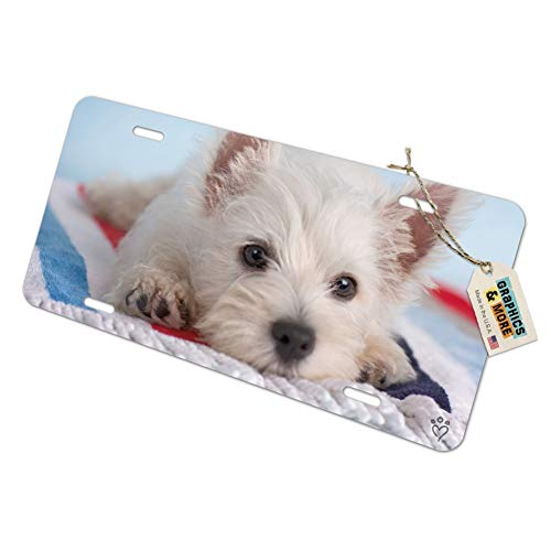(Graphics and More West Highland Terrier Westie Puppy Dog Beach Towel Novelty Metal Vanity Tag License Plate)