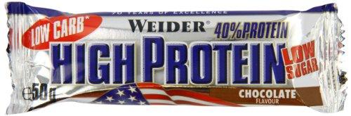 Weider Low Carb High Protein Bar, Schokolade, 1er Pack (25 x 50g)